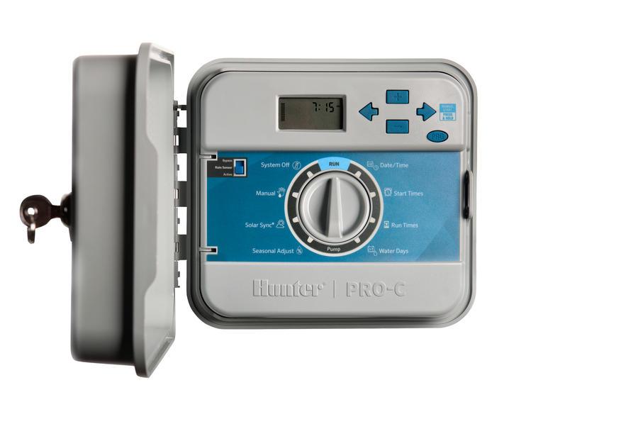 PC 401 Е пульт управления поливом для 4 зон с возможностью расширения до 16 зон наружный